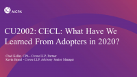 CECL: What Have We Learned From Adopters in 2020?