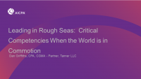 Leading in Rough Seas:  Critical Competencies When the World is in Commotion