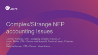 Complex/Strange NFP Accounting Issues