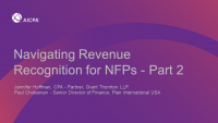 Navigating Revenue Recognition for NFPs - Part 2