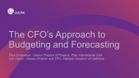 The CFO's Approach to Budgeting and Forecasting