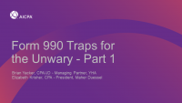 Form 990 Traps for the Unwary - Part 1