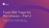 Form 990 Traps for the Unwary - Part 2