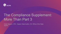 The Compliance Supplement: More Than Part 3