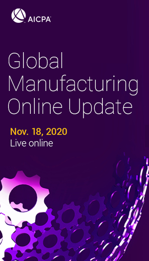 AICPA Global Manufacturing Update 2020 icon