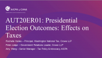 Presidential Election Outcomes: Effects on Taxes