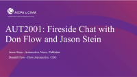 Welcome Remarks and Fireside Chat with Don Flow and Jason Stein