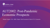 Post-Pandemic Economic Prospects