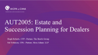 Estate and Succession Planning for Dealers