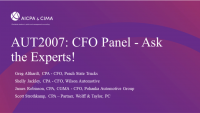 CFO Panel - Ask the Experts!