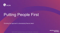 Announcements and Introduction | Putting People First – Evolving the Approach to Developing Finance Talent