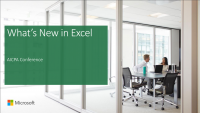 Sponsor Solution Session: What's New in Microsoft Excel (Sponsored by Microsoft)