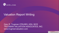 Valuation Report Writing Workshop