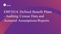Defined Benefit Plans - Auditing Census Data and Actuarial Assumptions/Reports