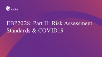 Part II: Risk Assessment Standards & COVID19