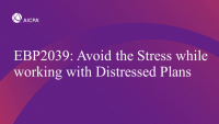 Avoid the Stress while working with Distressed Plans
