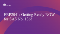 Getting Ready NOW for SAS No. 136!