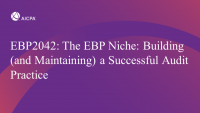 The EBP Niche: Building (and Maintaining) a Successful Audit Practice