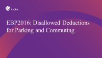 Disallowed Deductions for Parking and Commuting