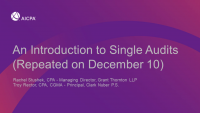 An Introduction to Single Audits (Repeated on December 10)