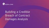 Building a Credible Breach of Contract Damages Analysis