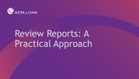 Review Reports: A Practical Approach