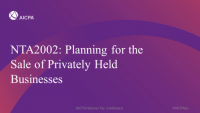 Planning for the Sale of Privately Held Businesses