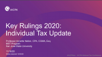 Key Rulings 2020/Individual Update