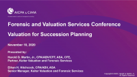 Valuation for Succession Planning