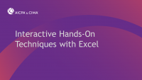 Interactive Hands-On Techniques with Excel