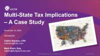 Multi-State Tax Implications - A Case Study