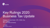 Key Rulings 2020/Business Tax Update