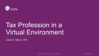 Tax Profession in the Virtual Environment