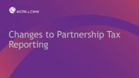 Changes to Partnership Tax Reporting