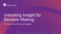 Unlocking Insight for Decision Making: The Next Level of Financial Analysis