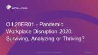 Pandemic Workplace Disruption 2020:  Surviving, Analyzing or Thriving?