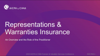 Representations & Warranties Insurance:  An Overview and the Role of the Practitioner
