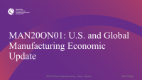Welcome and Introduction | U.S. and Global Manufacturing Economic Update