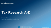Tax Research A to Z