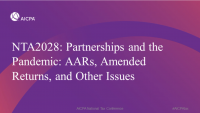 Partnerships and the Pandemic: AARs, Amended Returns, and Other Issues