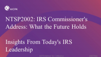 IRS Commissioner's Address: What the Future Holds (Invited) | Insights From Today's IRS Leadership (Invited)