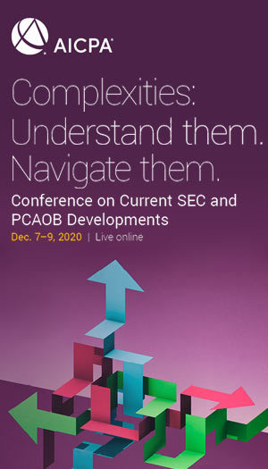AICPA Conference on Current SEC and PCAOB Developments 2020