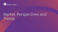 Capital Market Perspectives and Trends