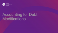 Accounting for Debt Modifications