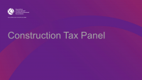 Construction Tax Panel
