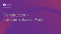 Construction - Fundamentals of A&A