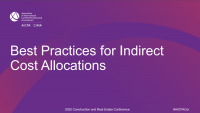 Best Practices for Indirect Cost Allocations