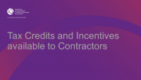 Tax Credits and Incentives available to Contractors