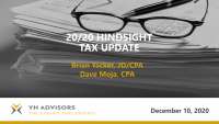 2020 Hindsight: The Nonprofit Tax/Legal Year in Review