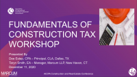 Construction Fundamentals of Tax